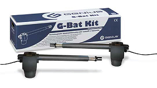 G-BAT KIT PER CANCELLI A DUE ANTE BATTENTI 433 MHZ